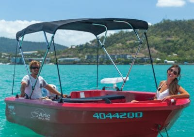 Couple Fishing Family Holiday Airlie Boat Hire