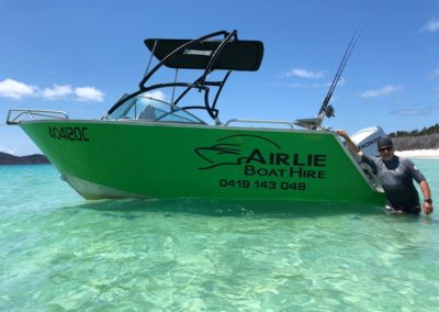 SportsRider Green Whitehaven Airlie Boat Hire